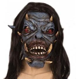 Masque latex monstre bleu