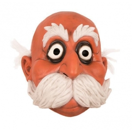Masque latex moustaches blanches