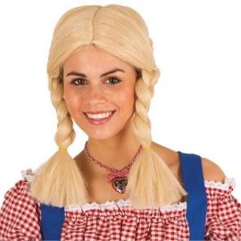 Perruque tresses blonde