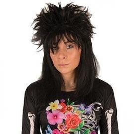 Perruque punk noire