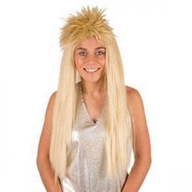 Perruque punk blonde