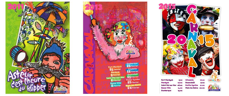affiches du carnaval de dunkerque