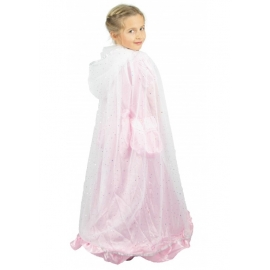Cape princesse plume rose et or
