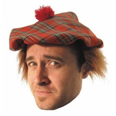 Casquette écossais + cheveux