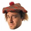 Chapeau écossais + cheveux