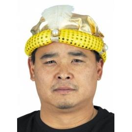 Chapeau mandarin avec natte