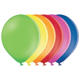 50 Ballons pastel diamètre 30cm multicolores