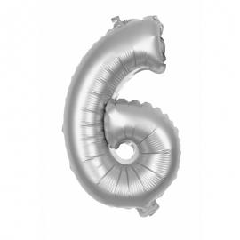 Ballon mylar 36cm argent - Chiffre 0