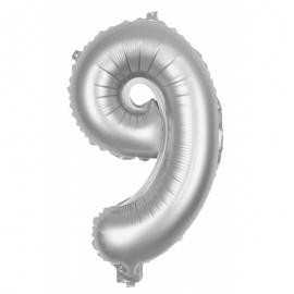 Ballon mylar 86cm argent - Chiffre 0