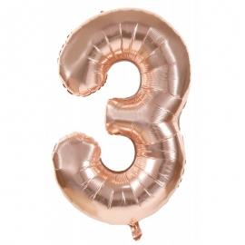 Ballon mylar 36cm cuivre - Chiffre 0