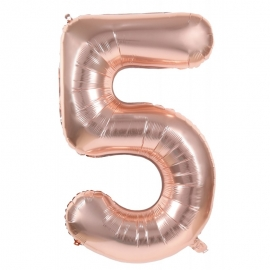 Ballon mylar 86cm cuivre - Chiffre 0