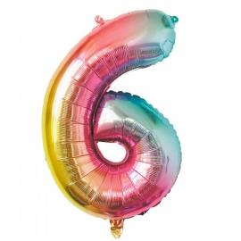 Ballon mylar 36cm irisé - Chiffre 0