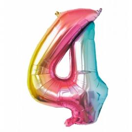 Ballon mylar 86cm irisé - Chiffre 0