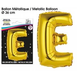 Ballon métallique or 36cm - Lettre A