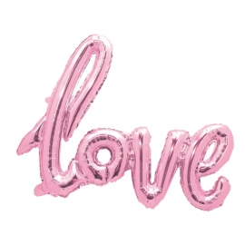 Lettres ballon love 73x57cm rose pastel