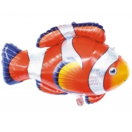 Ballon poisson clown 89x62cm