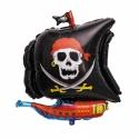 Ballon bateau pirate 64x66cm