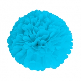 Pompon bleu dragée 15cm