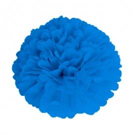 Pompon bleu glacier 15cm