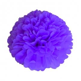 Pompon bleu nuit 15cm