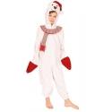 Costume peluche bonhomme de neige enfant