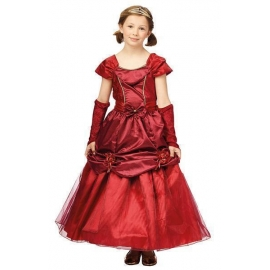Costume princesse bordeaux enfant
