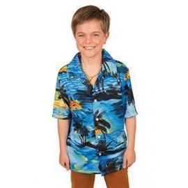 Chemise hawaïenne bleue enfant