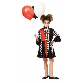 Costume creepy clown fille