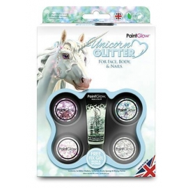 Kit de maquillage paillettes licorne