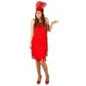 Robe charleston à franges rouge