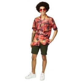 Chemise hawaïenne rouge