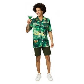 Chemise hawaïenne verte