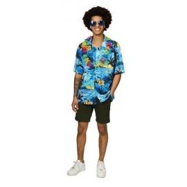 Chemise hawaïenne bleue