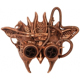 Masque à gaz Steampunk bronze