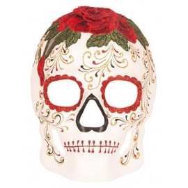 Masque Day of the dead coeur homme