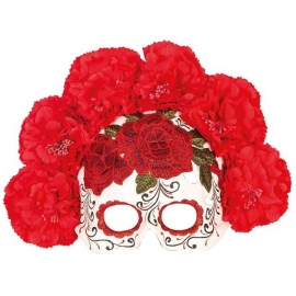Masque Day of the dead fleurs homme
