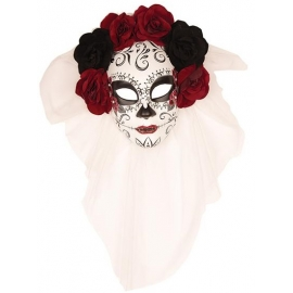 Masque Day of the dead violet femme