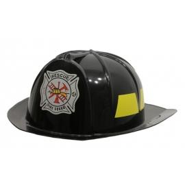 Casque de pompier adulte NOIR