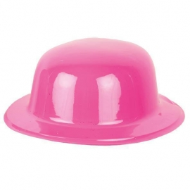 Chapeau melon PVC bleu