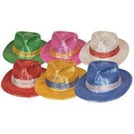 Lot de 6 chapeaux melon PVC paillettes
