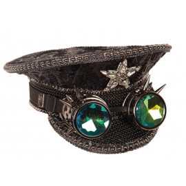 Casquette et lunettes Steampunk