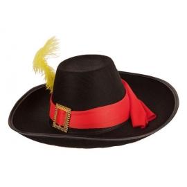 Chapeau Mousquetaire feutre noir