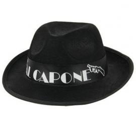 Chapeau al capone feutre noir