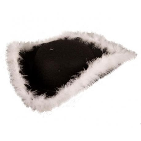 Tricorne marabout noir