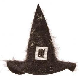 Chapeau sorcière peluche noir