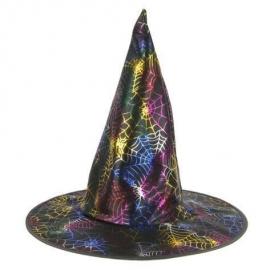 Chapeau sorcière multicolore
