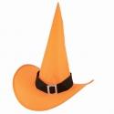 Chapeau sorcière nylon orange