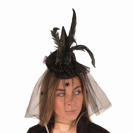 Mini chapeau araignéee + voile