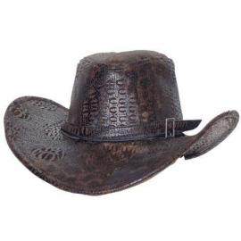 Chapeau cowboy crocodile