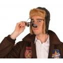 Bonnet aviateur simili cuir et fourrure